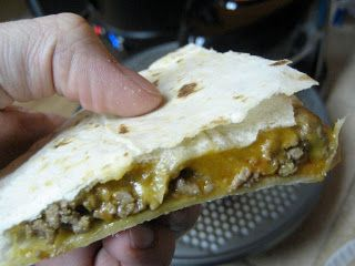 presto pizzazz pizza oven tricks and tips: Mmm, the BEST quesadilla ever!
