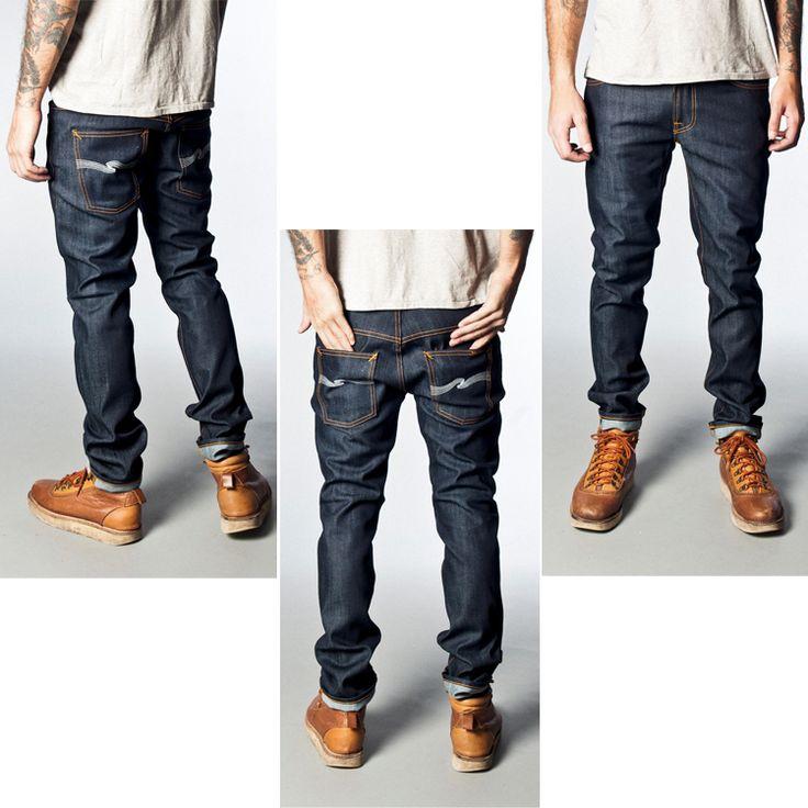 Nudie Jeans(ヌーディージーンズ)_Thin Fin_シンフィン_デニム_正面とバック