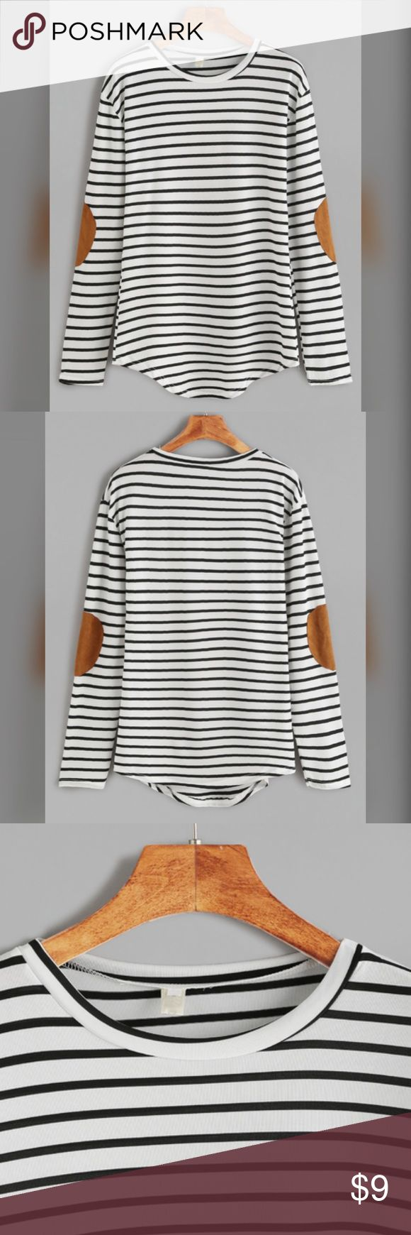 Long sleeve striped shirt New condition. Small but the shirt is a stretchy material so it could easily fit a medium. Super soft and comfortable shirt. No trades. Tops Tees - Long Sleeve