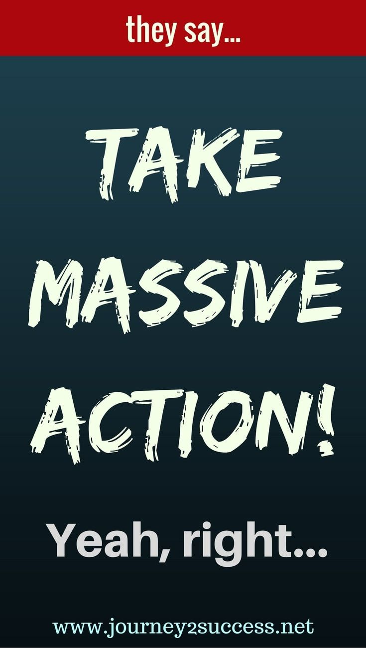 "The self improvement gurus are quick to tell you to ""take massive action"", but... Is it enough? More often than not, it isn't."