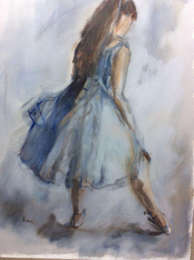 Painting by Rani Pillay 'ballerina' oil on canvas 80/100
