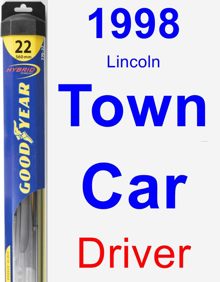 Driver Wiper Blade for 1998 Lincoln Town Car - Hybrid