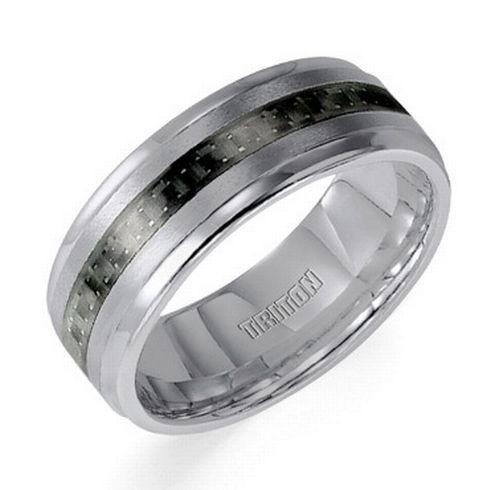 TRITON Grey Tungsten Carbide Band 8mm - Item 11-2890C-G | REEDS Jewelers