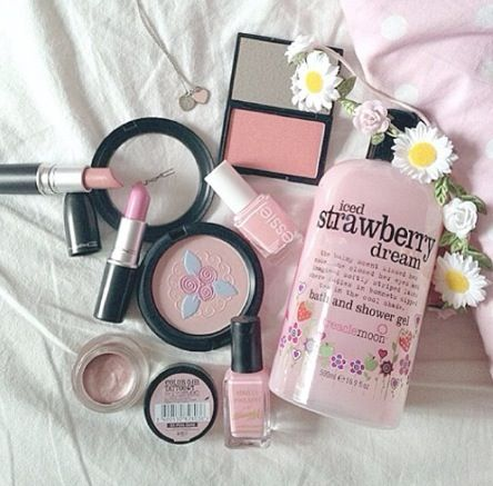 Pink products #makeup #girly #pink