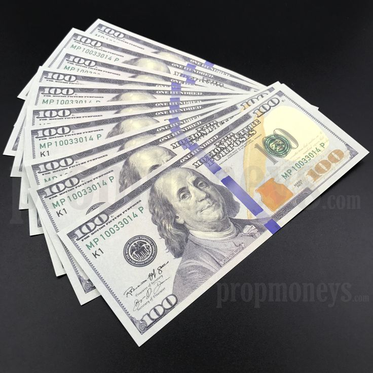 10x $100 Dollar Bills - $1,000 Dollars - New Style Prop Money