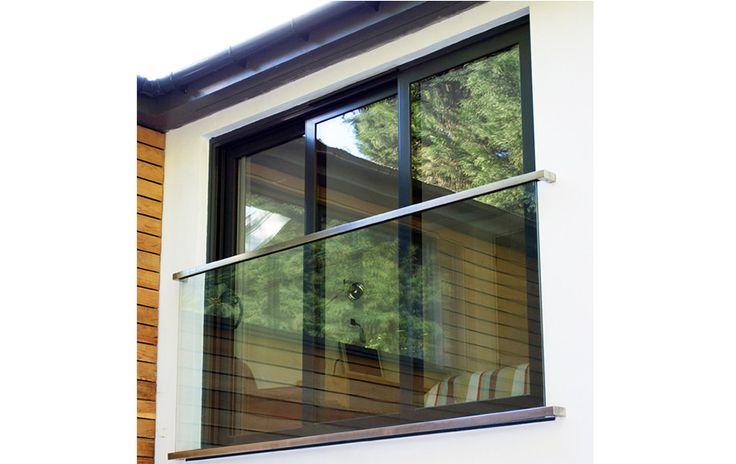 Easy Ways to Build Juliet Windows Balcony: Modern Juliet Windows Glass Balcony