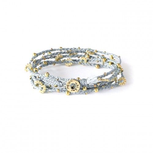 Life is What You Make of It - Wrap Bracelet/Long Necklace - Light Blue/Gold WA0293-19, 140 kronor hos masomenos.se