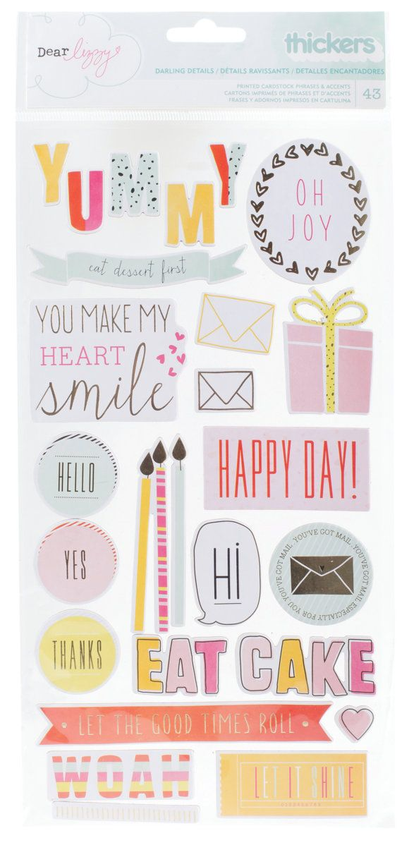 Dear Lizzy - Fine & Dandy Collection - Chipboard - SharBearCrafts