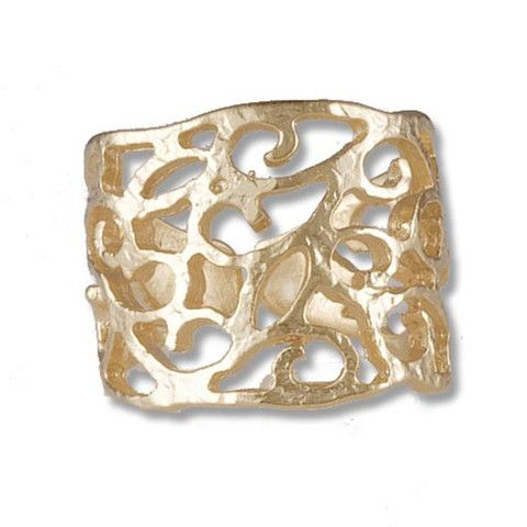 Handmade Gold Plated Bronze Ring