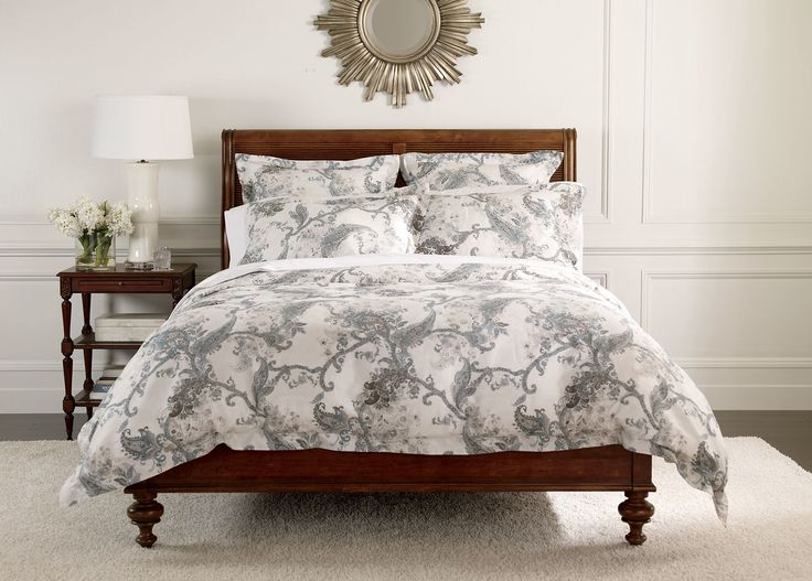 wynsome paisley duvet cover and shams ethan allen paris