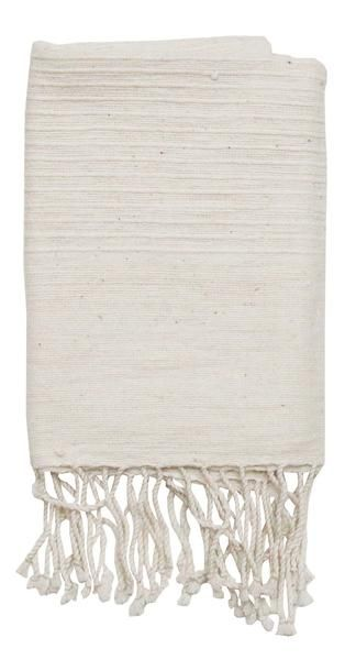 """By Creative Women Soft, natural hand towels with ribbed ends are a classic complement to any style. Hand-spun cotton, handwoven in Ethiopia. 21""""x27""""100% cotton. Machine wash, tumble dry low. Do not use bleach or fabric softener."""