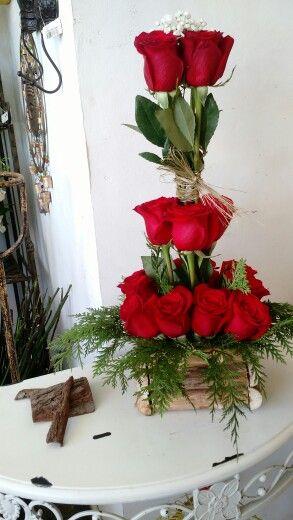 Base rustica, rosas ecuatorianas