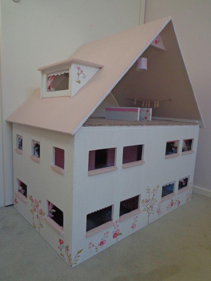 297 best images about poppenhuis ideeen zelf maken for Poppenhuis voor barbie