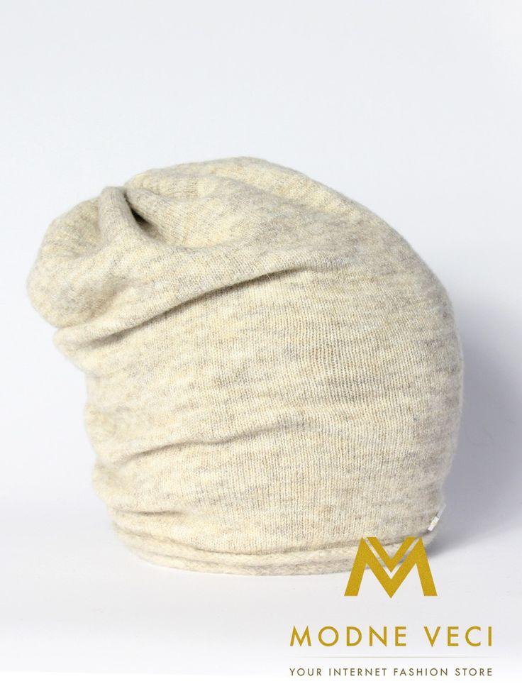 Dámska  čiapka been melír krém 2016-16-26