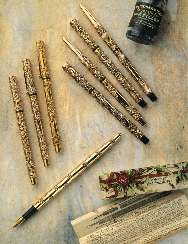 Waterman's ideal fountain pens 1898-1910. Wish I could get my hands on one of these!