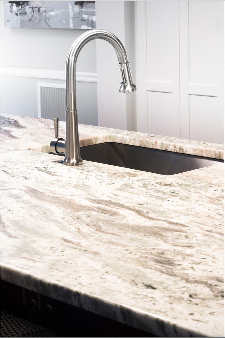 Kitchen cabinets rhode island - White Kitchen Cabinets Dark Wood Island Mosaic Backsplash Wine Cooler Ge Appliances