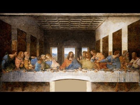 """The Last Supper Painted by Leonardo da Vinci from 1495-1498 From """"Werke"""" by Johann Wolfgang von Goethe From the LearnOutLoud.com Audiobook """"Art Masterpieces""""..."""