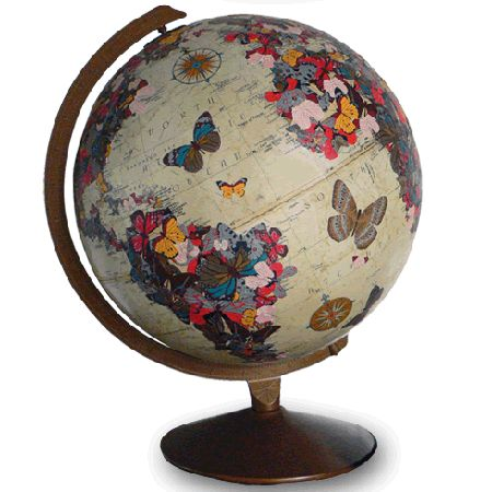 "oooOOOoooo!!! I WAAAANT this!!! My birthday is April 13th I'll give you my address LOL! Annnnnd by ""LOL"" I mean SERIOUSLY! ...Butterfly Globe by ImagineNations"