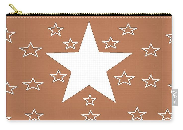 Carry-all Pouch of 'Texas Stars Forever' by Sumi e Master Linda Velasquez.