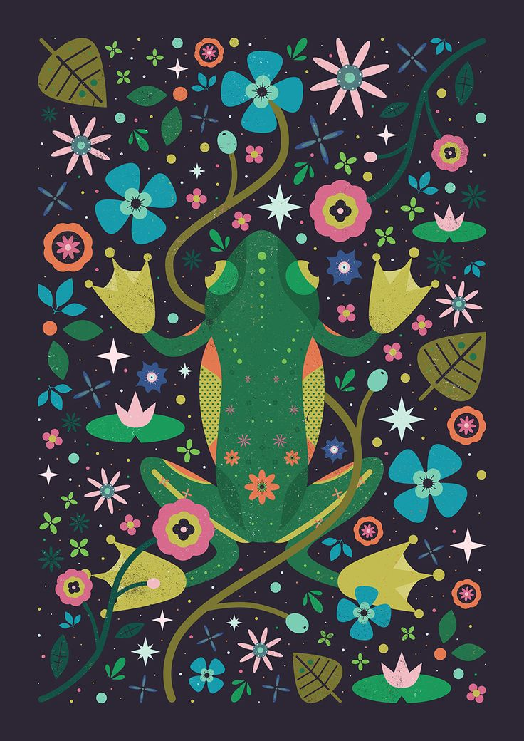 Carly Watts Art & Illustration: Botanical Frog