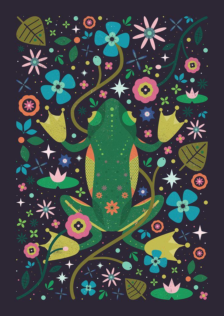 Carly Watts Art & Illustration: Botanical Frog
