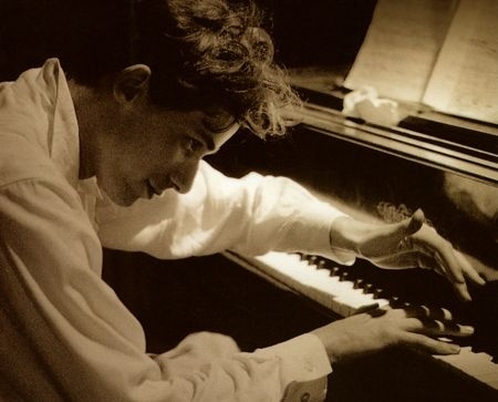Glen Gould being the music he played...eccentric Canadian pianist (1932-1982).