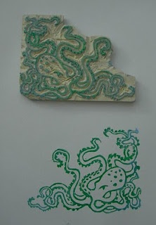 hand carved octopus stamp - thinking hand carved type??