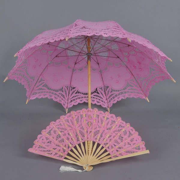 Кружевной Свадебный Зонтик Розовая Свадьба Фанатов Зонтиками Высокое Качество