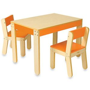 Pu0027kolino Little Oneu0027s Table And Chairs, Orange « Game Searches