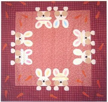 Toalha de mesa com coelhinhos