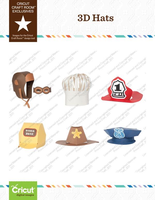 Cricut Craft Room Exclusive: 3D Hats Part 19