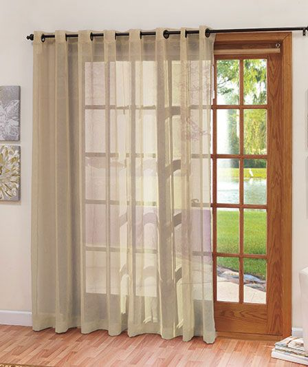 Extra wide patio door curtain the lakeside collection for Wide sliding patio doors