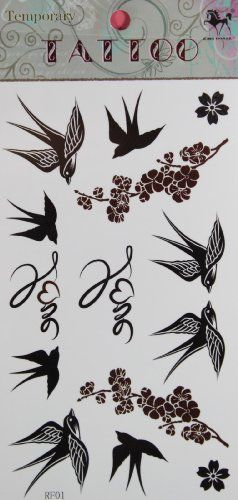 GGSELL KING HORSE hot selling New design Swallow and Plum temporary tattoo stickers has been published at http://www.discounted-skincare-products.co.uk/ggsell-king-horse-hot-selling-new-design-swallow-and-plum-temporary-tattoo-stickers/