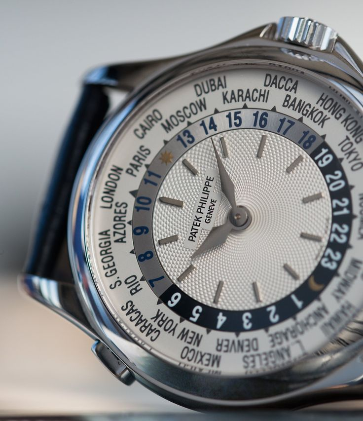 World Timer Patek Philippe 5110G-001 white gold watch at A Collected Man London