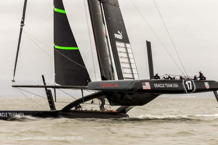 First AC72 sail for ORACLE TEAM USA today in San Francisco