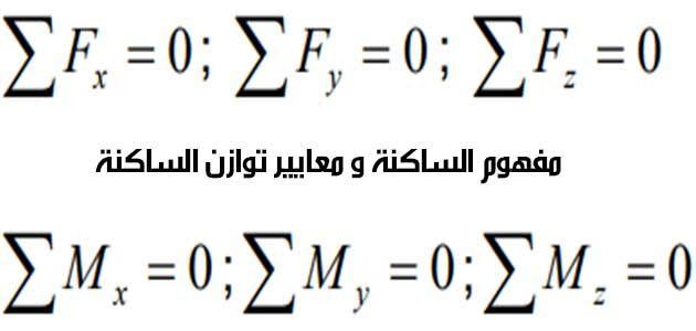 مفهوم الساكنة و معايير توازن الساكنة مذكرة Math Math Equations Equation