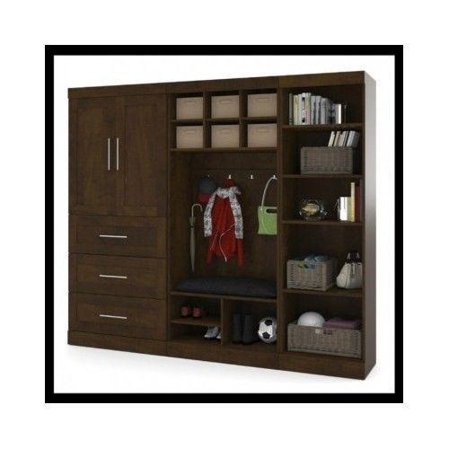 Wardrobe-Closet-Armoire-Bedroom-Furniture-Cabinet-Chest-Wood-Mudroom-Storage-Kit