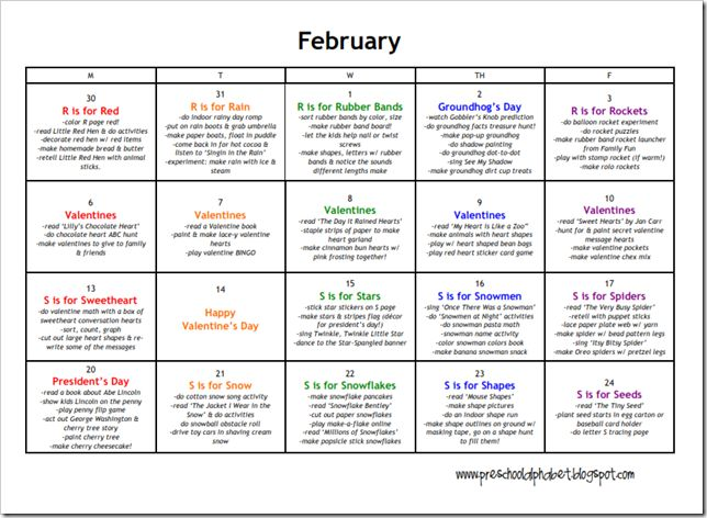 Kindergarten Calendar For Parents : Best images about printable calendar activities free