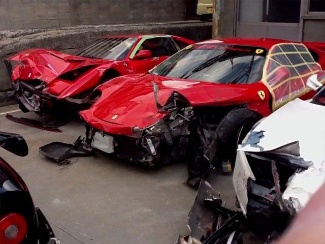 Best Incidenti Ferrari Images On Pinterest Crash Race