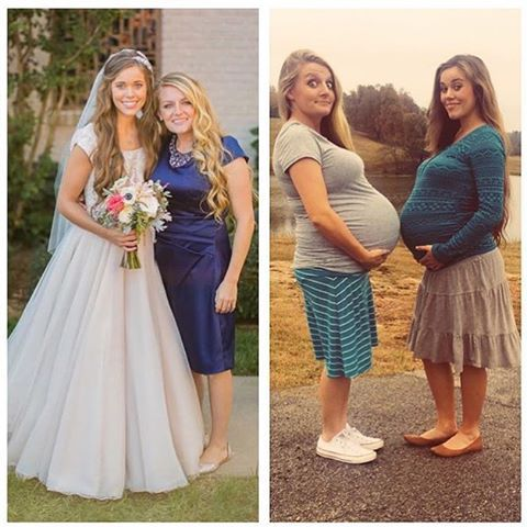 Sierra and Jessa!Sierra was helping with the wedding. And now their both pregnant @the same time. Sierra looks bigger than Jessa is!