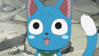 Happy The Cat from fairy tale | Left) Happy the talking cat, from the TV anime version of Fairy Tail ...