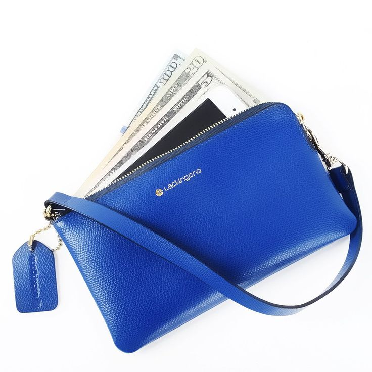 Lackingone RFID Blocking Wallet Women Leather Clutch Bag Long Wallet Navy. Size:7.2*4.3 inch.Color:Rolay Blue. Good Quality:It is made of leather material with Good Quality which is not PU leather.You won't regret it. Fashionable:The surface of this royal-blue leather handbag is stylish which can completely show your amazing elegence. RFID Anti-theft:The internal side of this handbag has anti theft function.It can effectively protect your personal information on your ID card, passport or...