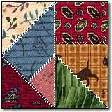 Crazy Quilt step by step instructions for simple block