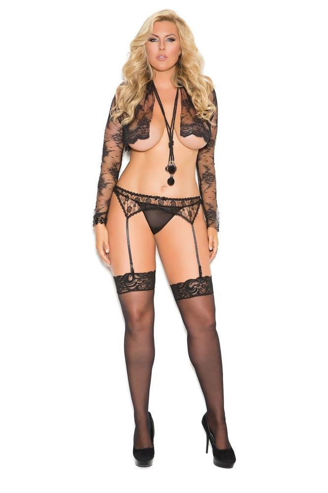 8f718525b3c20 Plus Size Black or White Lace Suspender Belt 14-16-18 Sexy Lingerie EM-3363   fashion  clothing  shoes  accessories  womensclothing  intimatessleep  (ebay ...