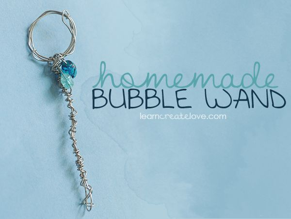 { Homemade Bubble Wand } | LearnCreateLove.com