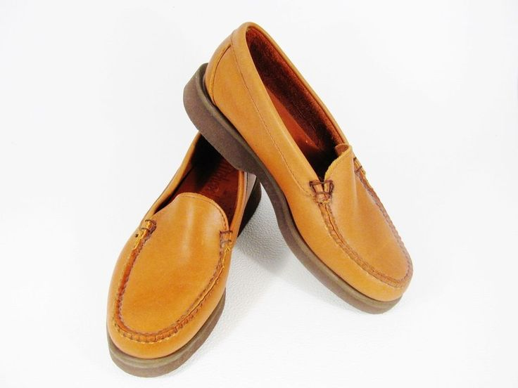 HITCHCOCK Wide Size Shoes MEN Brown Loafer Slip On Soft Leather Sz 8.5 USA #Hitchcock #BoatShoes