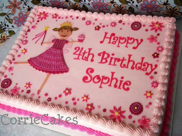 Girl sheet cake