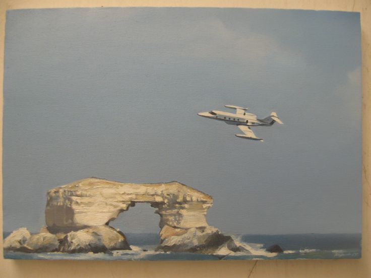vuelo sobre Antofagasta, Chile oleo sobre tela
