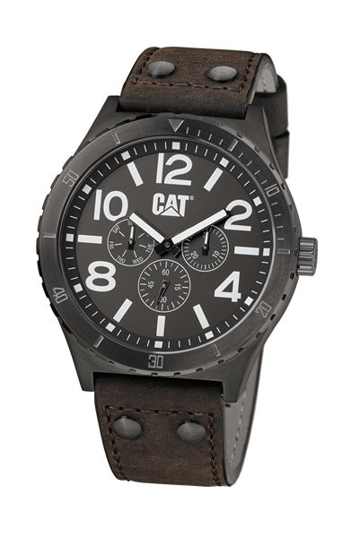 """""""CAT watches"""" Brown Brushed, Stainless Steel Overlay Watch by Caterpillar"""
