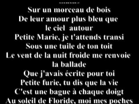 ▶ YouTube - FRANCIS CABREL PETITE MARIE.flv - YouTube